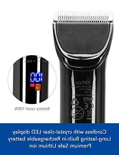 Hair Clippers for Electric Wireless Mens Cordless Self Kit, Lithium-ion LED Display, Haircut