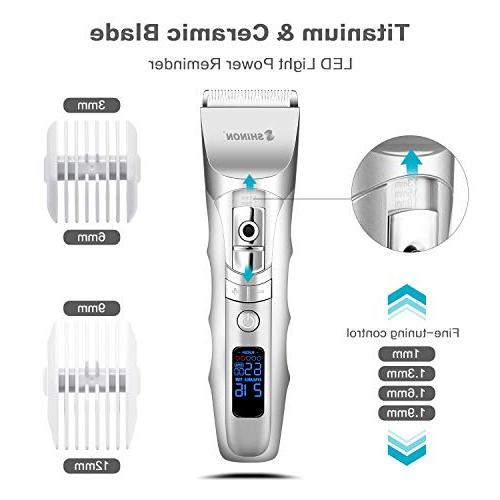 Hair Clippers, High LED Trimmer for with Screen Secure Guide, Charging Cordless Waterproof Haircut