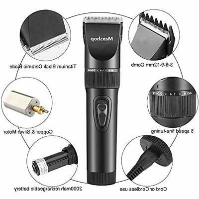 Hair Clippers & Accessories Clippers,Cordless Quiet Grooming And