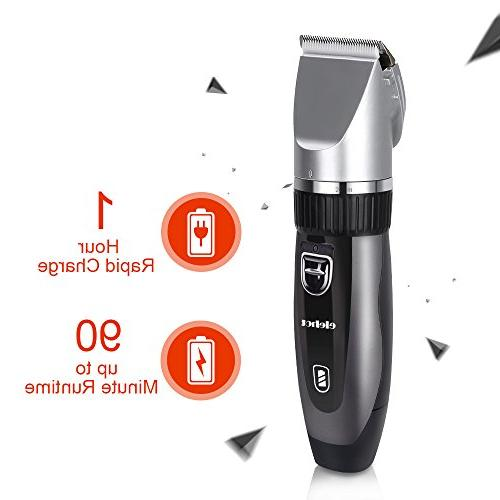 Hair Clippers Electric Haircut Ceramic Blade for Men Kids