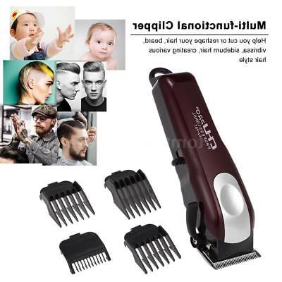 Men's Electric Rechargeable Hair Clipper Set With 4 Pcs Comb