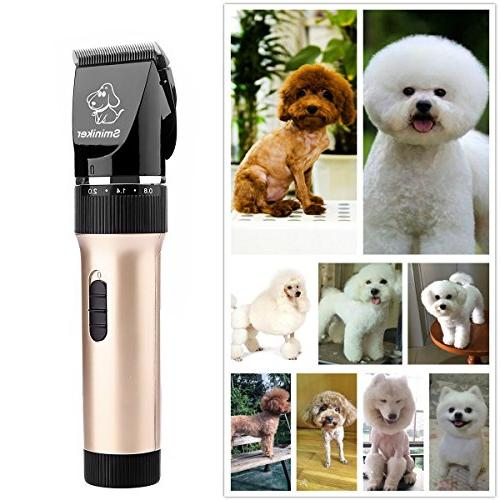 Sminiker Rechargeable Cordless Cat Dog Clippers Professional Pet clippers Pet Grooming