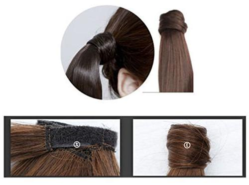 Haironline Extensions Around Synthetic Ponytail in Hair One Piece Tail Long Soft Silky
