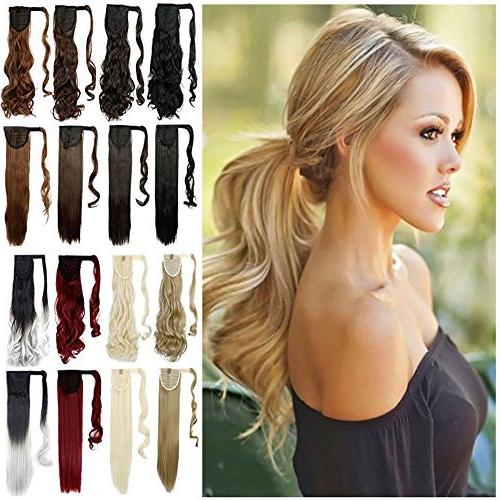 ponytail extensions wrap around synthetic
