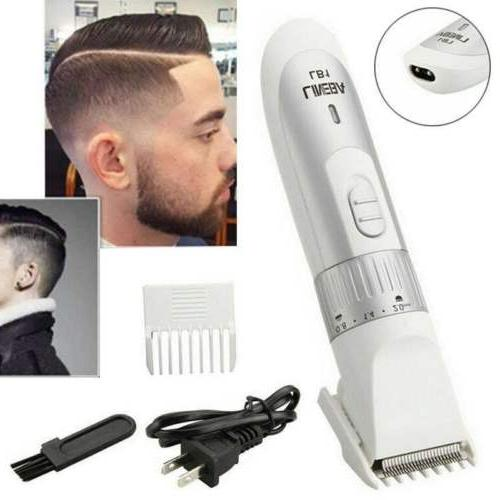 Men's Rechargeable Pro Wireless Hair Trimmer Beard Clipper B