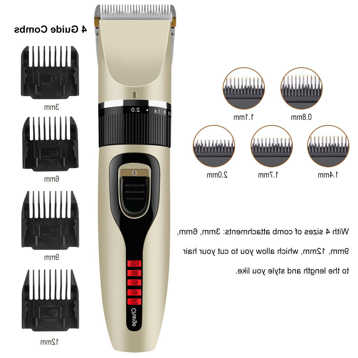 Professional Clippers Mens Hair kit Cordless