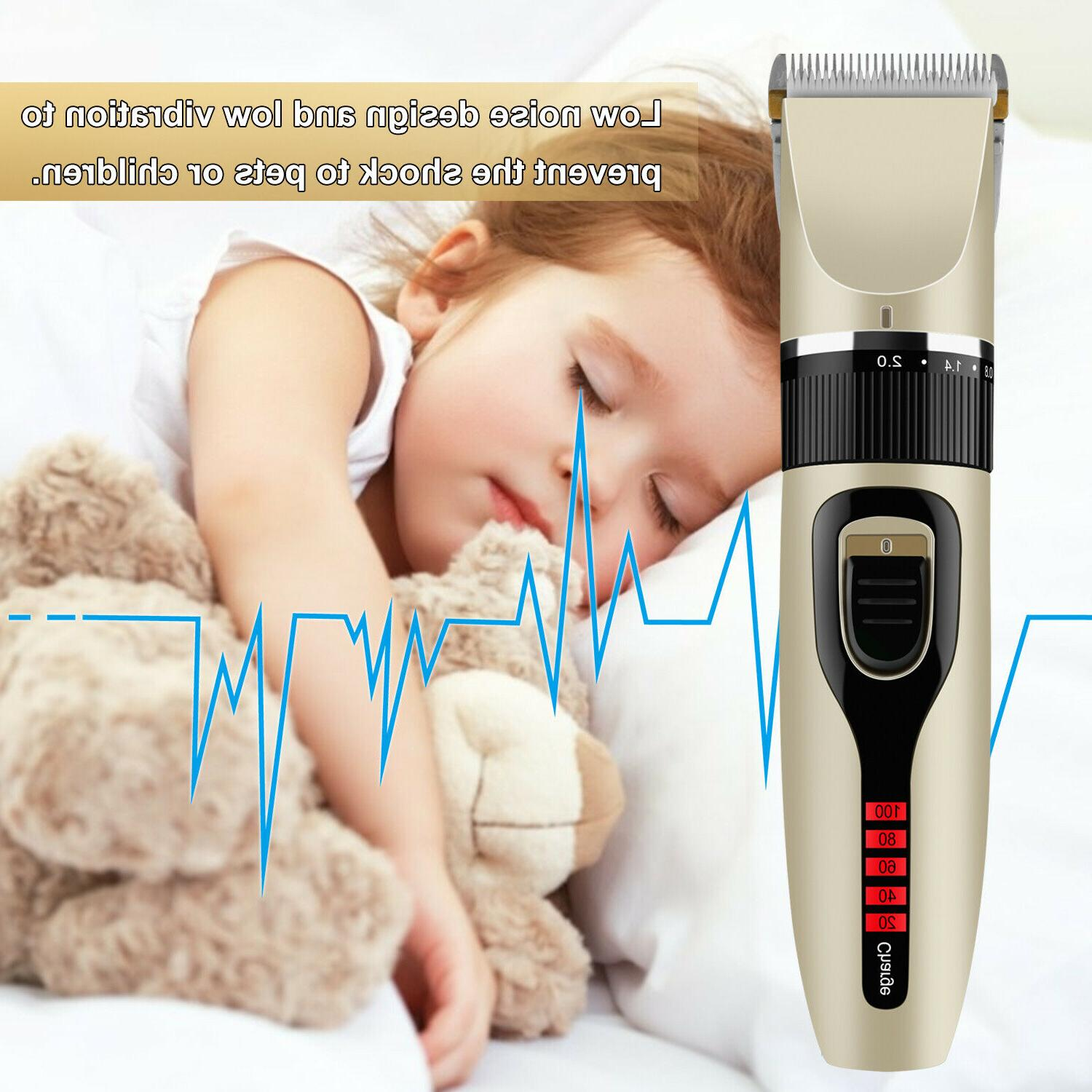 Professional Hair Clippers Trimmer Mens Barber Hair Cutting kit Machine