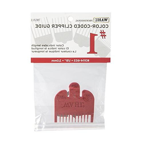 """Wahl Color Comb Attachment Red #1 1/8"""" – Great for Professional Stylists"""