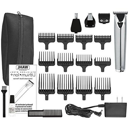 Wahl Steel Lithium Ion 18 Groomer Kit