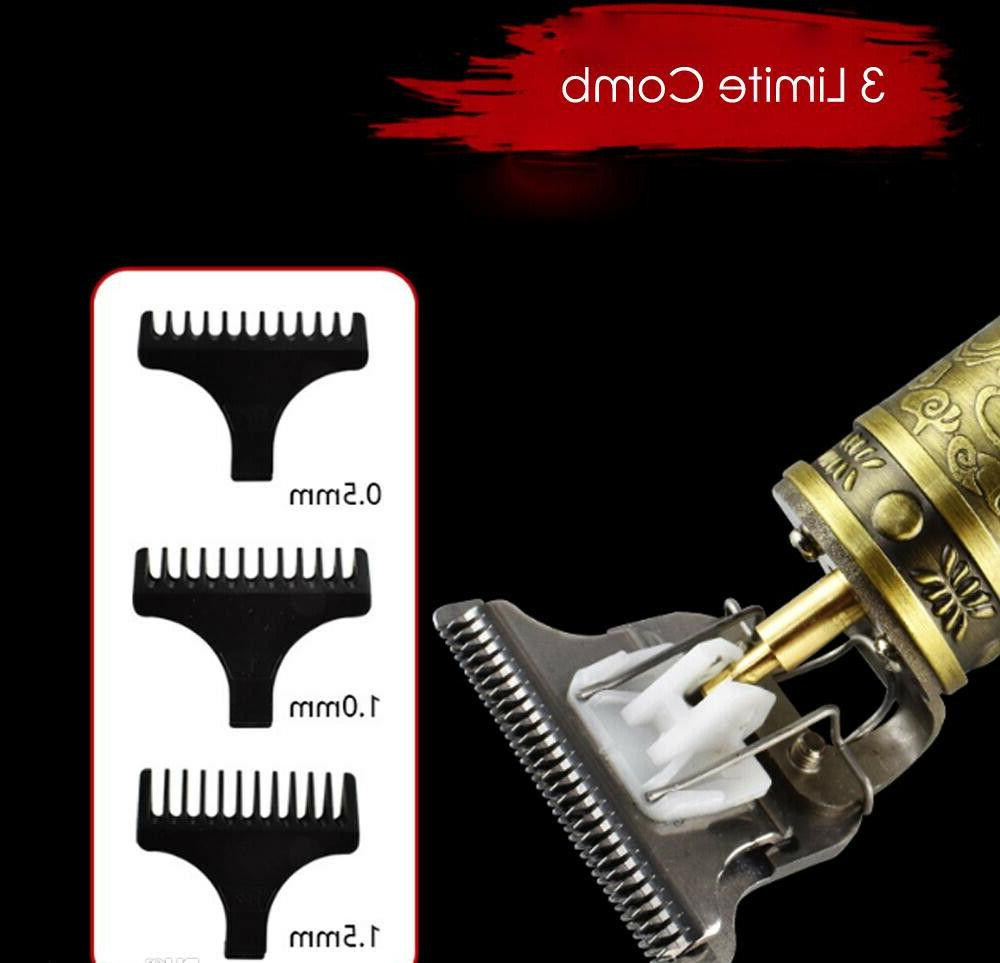 T-Trimmer Hair Clippers Barber ALL Metal Copper Gold