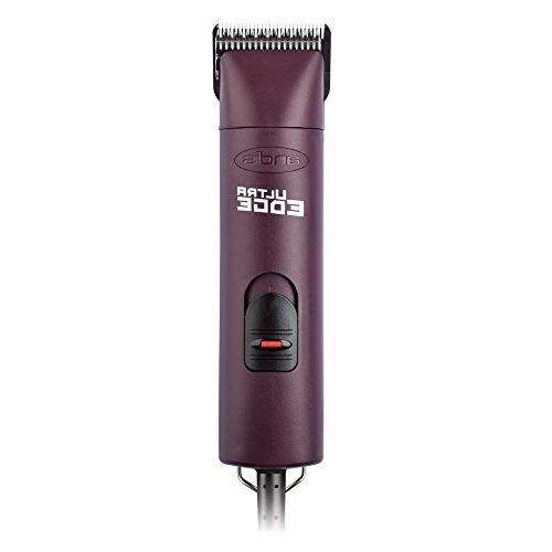 Andis 2-Speed Detachable Blade Clipper, Animal Grooming, Burgundy, with A Bonus Blade