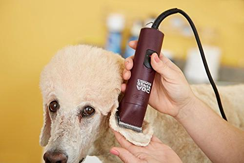 Andis Super 2-Speed Detachable Blade Clipper, Professional Animal Grooming, with Bonus Blade Brush