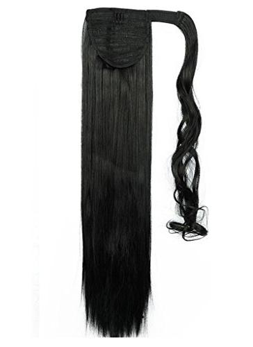Wrap Around Ponytail Days One Piece Long Wavy Curly Silky Fashion and