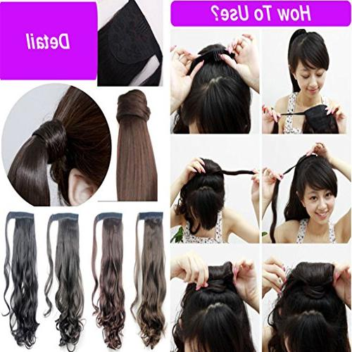 Wrap Ponytail Days Fast Delivery Synthetic One Magic Silky Women Fashion Beauty