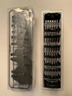Magnetic Guards For Wahl Hair Clippers 10-Pc Set Black Attac