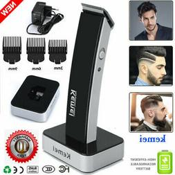 KEMEI Men Cordless Electric Rechargeable Hair Clipper Trimme