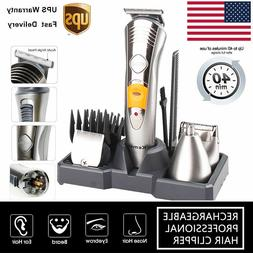Mens Electric Hair Clipper Trimmer Rechargeable Washable Bea