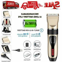 Mens Cordless Hair Clippers Trimmer Cutting Beard Body Hair