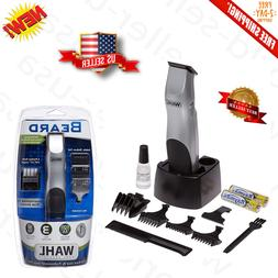 Wahl Mens Kit Beard Trimmer Mustache Clipper Shaver Cordless