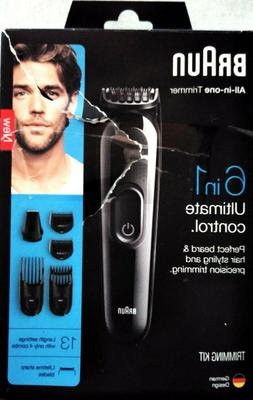 Braun MGK3025 Men's Beard Hair Clippers, 6-in-1 Precision Tr