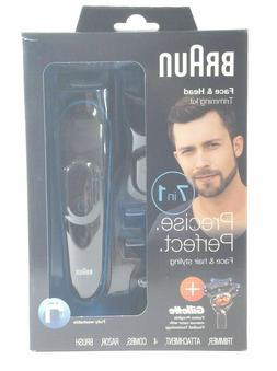 Braun MGK3045 Beard & Hair Clippers 7 in 1 Face and Head Tri