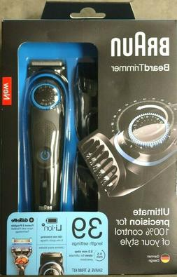 NEW!!!! Braun BeardTrimmer Beard Trimmer & Hair Clipper BT50