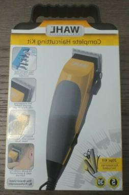 NEW Wahl Hair Clippers Complete Hair Cutting Kit 20 Pc Kit A