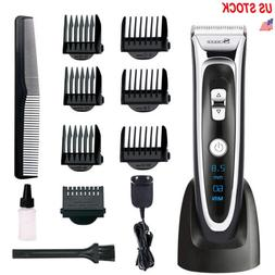 Men's Rechargeable Hair Clipper Trimmer Shaver Electric Cutt