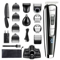Professional Hair Trimmer Waterproof Clipper Beard Body Kit