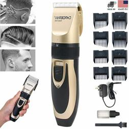 Professional Men Hair Clippers Trimmers Cordless Rechargeabl