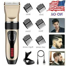 Professional Rechargeable Hair Clippers Trimmer Men Hair Bod