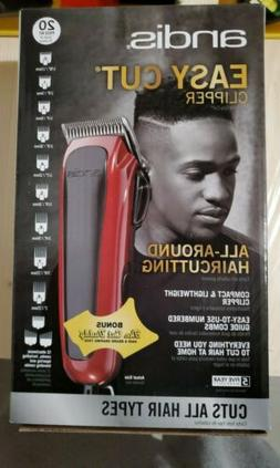 SEALED Andis Easy Cut 20-Piece Haircutting Kit, Red/Black 75