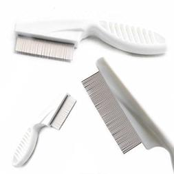 1 Set Comb Hair Brush Metal Head Lice Comb Fine Toothed Flea