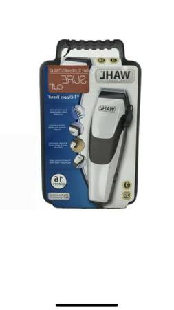 Wahl Sure Cut Clippers Hair Trimmer Clipper Kit 16-Piece Set