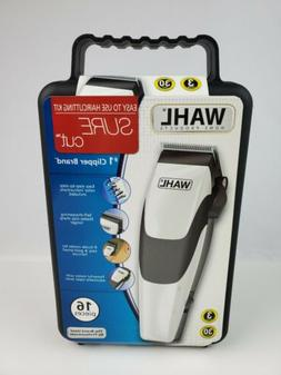 Wahl Sure Cut hair Clippers electric Haircut Kit 16 pc. set