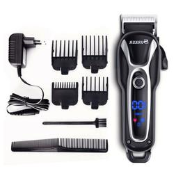 SURKER Rechargeable Electric Clippers Ceramic Blade Hair Tri