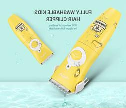 Waterproof Kids Hair Clipper safety Silent Care Direct Flush