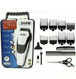 WAHL White Sure Cut Clippers Hair Trimmer Clipper Kit 16-Pie