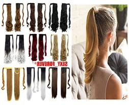 Wrap Around Ponytail 3-5 Days Fast Delivery Synthetic Clip i